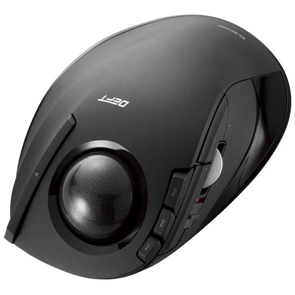 ワイヤレストラックボールマウス/人差し指操作/8ボタン/チルト機能/ブラック M-DT1DRBK(FMDI008486)