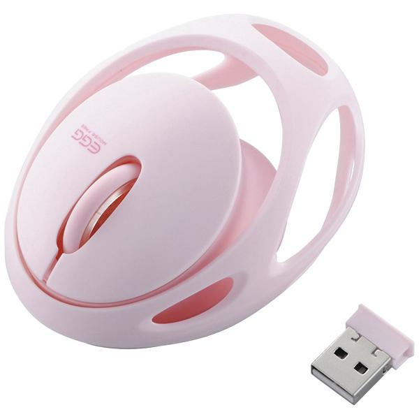 ワイヤレスマウス/EGG MOUSE FREE/3ボタン/IRLED/ピンク M-EG30DRPN(FMDI006791)