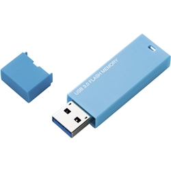 セキュリティソフト対応 シンプルUSB3.0メモリ/4GB/ブルー MF-MSU3A04GBU(FMDI002281)