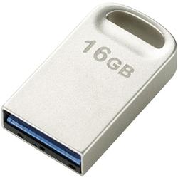 セキュリティソフト対応 超小型USB3.0メモリ/16GB/シルバー MF-SU316GSV(FMDI002267)