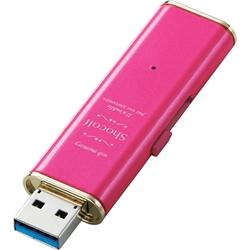 """USB3.0 セキュリティ対応スライド式USBメモリ""""Shocolf""""/16GB/ラズベリーピンク MF-XWU316GPND(FMDI003740)"""
