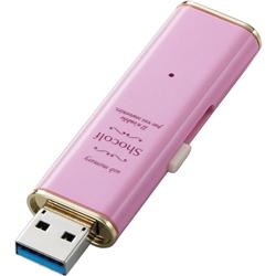 """USB3.0 セキュリティ対応スライド式USBメモリ""""Shocolf""""/16GB/ストロベリーピンク MF-XWU316GPNL(FMDI003741)"""