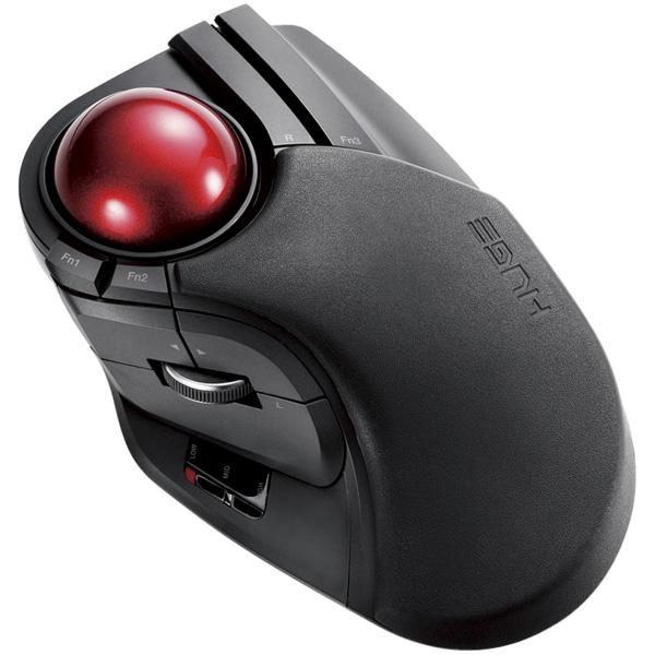 トラックボールマウス/大玉/8ボタン/チルト機能/無線/ブラック M-HT1DRBK(FMDI008490)