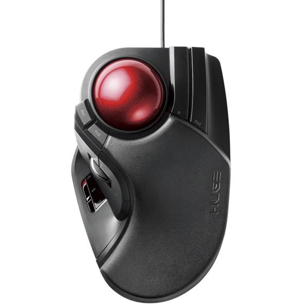 トラックボールマウス/大玉/8ボタン/チルト機能/有線/ブラック M-HT1URBK(FMDI008491)