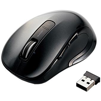 レーザーマウス/M-LS15DLシリーズ/無線/5ボタン/ブラック M-LS15DLBK(FMDI006805)