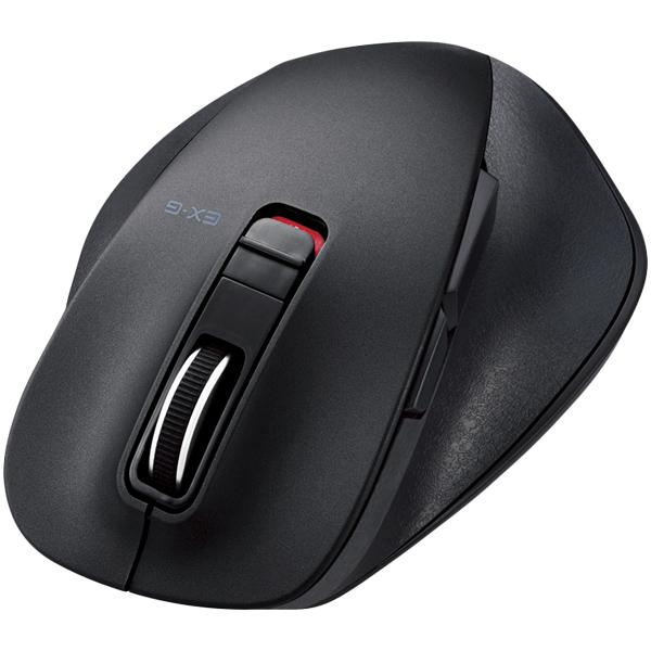 BlueLEDマウス/握りの極み/Mサイズ/Bluetooth/5ボタン/ブラック M-XGM10BBBK(FMDI005005)