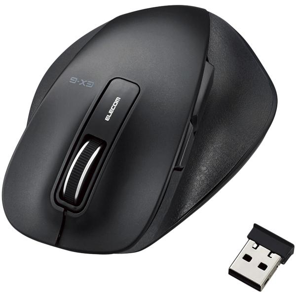 BlueLEDマウス/握りの極み/Mサイズ/無線/2.4GHz/5ボタン/ブラック M-XGM10DBBK(FMDI008102)