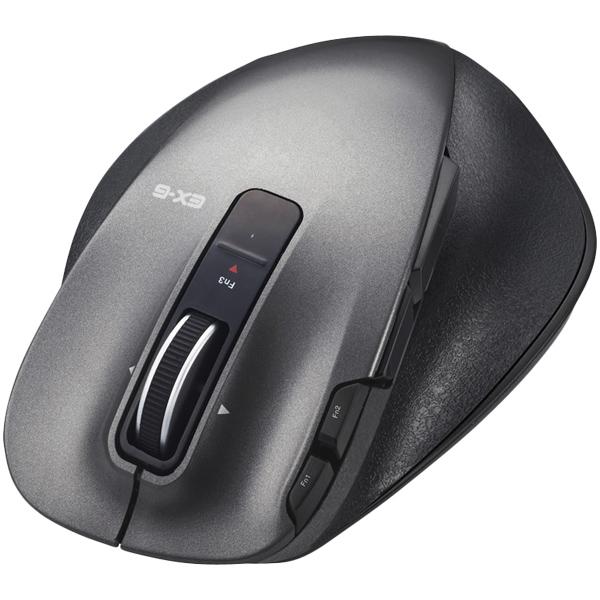 ULTIMATE LASERマウス/握りの極み/Mサイズ/無線/2.4GHz/8ボタン+チルト/ブラック M-XGM20DLBK(FMDI008100)
