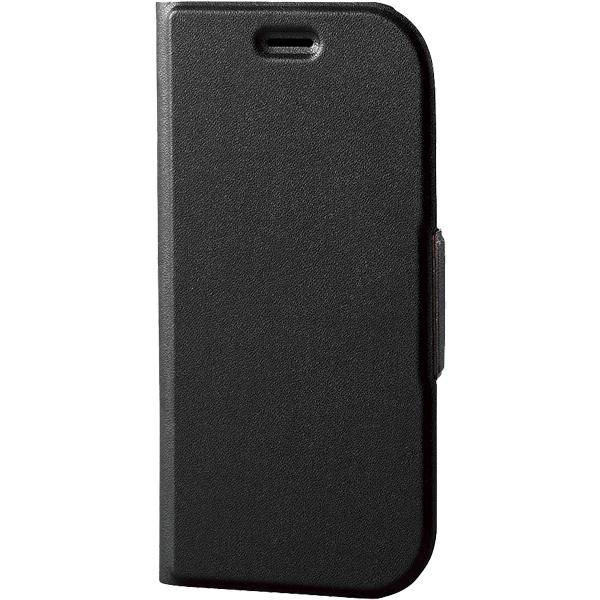 らくらくスマートフォン me用ソフトレザーカバー/薄型/磁石付/ブラック PD-F03KPLFUBK(FMDI010385)