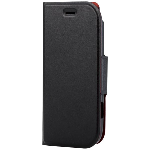 らくらくスマートフォン4(F-04J)/ソフトレザーカバー/薄型/磁石付/ブラック PD-F04JPLFUMBK(FMDI006735)