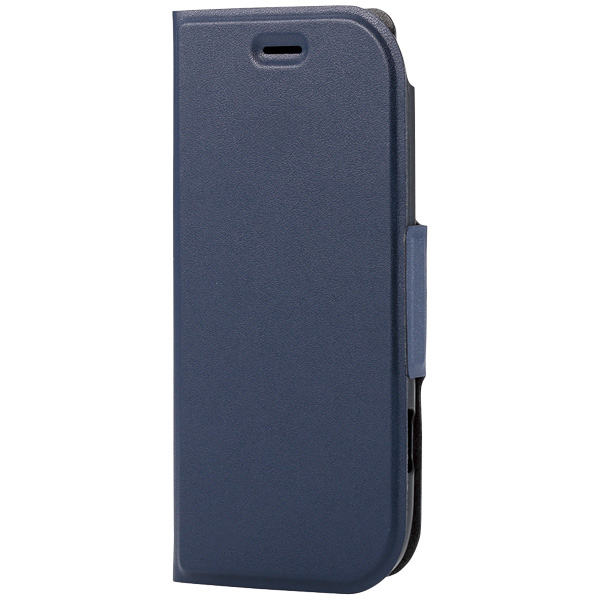 らくらくスマートフォン4(F-04J)/ソフトレザーカバー/薄型/磁石付/ネイビー PD-F04JPLFUMNV(FMDI006736)