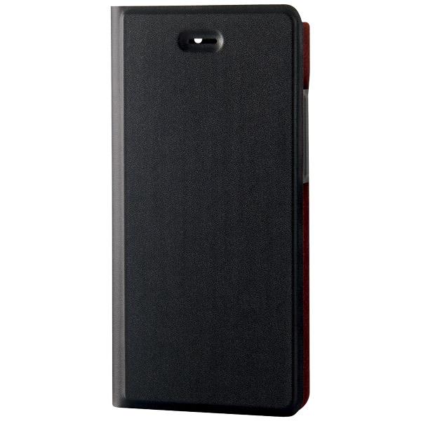Arrows NX用ソフトレザーカバー/薄型/磁石付/ブラック PM-F01JPLFUMBK(FMDI006703)