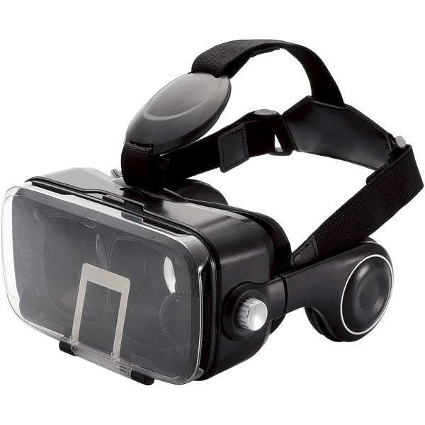 VRゴーグル/オーバーヘッドホン一体型/ブラック P-VRGEH01BK(FMDI007517)