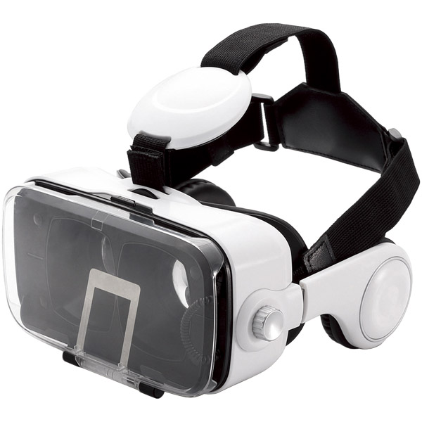 VRゴーグル/オーバーヘッドホン一体型/ホワイト P-VRGEH01WH(FMDI007518)