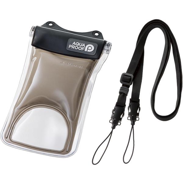 スマートフォン用防水・防塵ケース/水没防止タイプ/Sサイズ/ブラック P-WPSF01BK(FMDI010443)