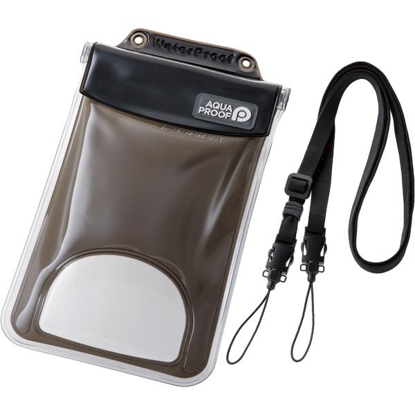 スマートフォン用防水・防塵ケース/水没防止タイプ/XLサイズ/ブラック P-WPSF03BK(FMDI010447)