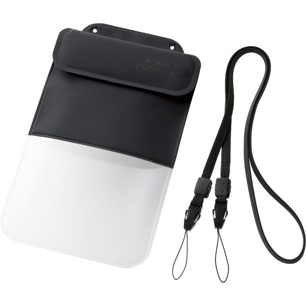 スマートフォン用防水・防塵ケース/ポケット付/XLサイズ/ブラック P-WPSP03BK(FMDI010448)