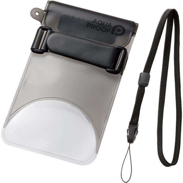 スマートフォン用防水・防塵ケース/セルフィー特化/Lサイズ/ブラック P-WPSS02BK(FMDI010450)