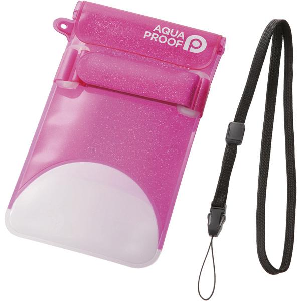 スマートフォン用防水・防塵ケース/セルフィー特化/Lサイズ/ディープピンク P-WPSS02PND(FMDI010452)