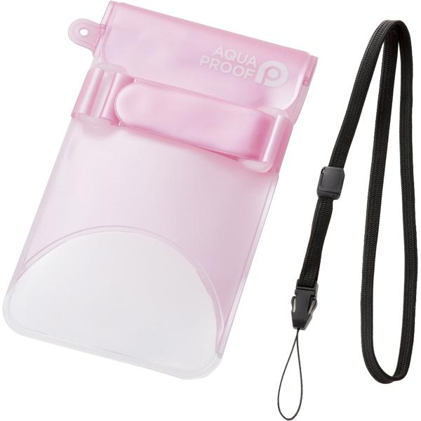 スマートフォン用防水・防塵ケース/セルフィー特化/Lサイズ/ライトピンク P-WPSS02PNL(FMDI010453)