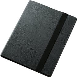 iPad 2012/iPad2用ソフトレザーカバー/360度スイベルスタンド/ブラック TB-A12360BK(FMDI009654)
