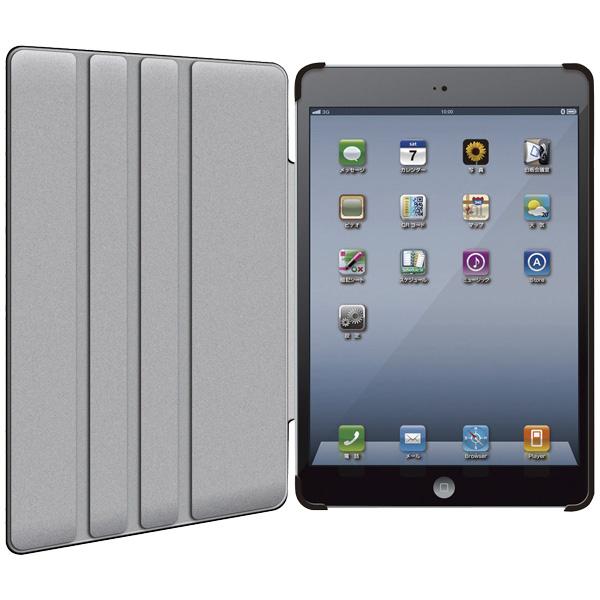 iPad mini用 ソフトレザーカバー(4段階調整)/液晶保護フィルム付/ブラック TB-A12SPLF2BK(FMDI009658)