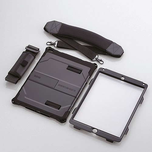 iPad Air 2用ベルト付ZEROSHOCKハードケース/ブラック TB-A14HVBK(FMDI009664)