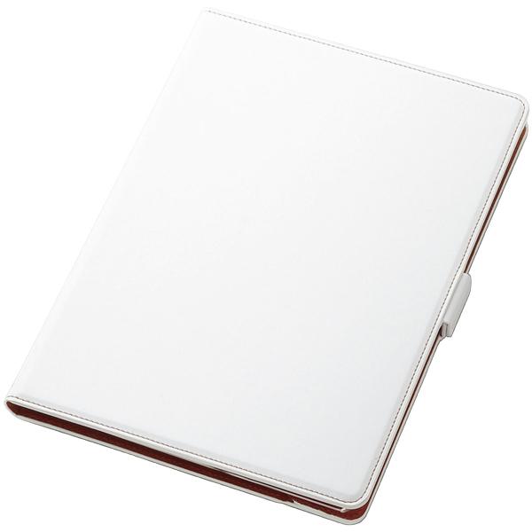 9.7インチiPad 2017年モデル用フラップカバー/ソフトレザー/360度回転/ホワイト TB-A179360WH(FMDI009689)
