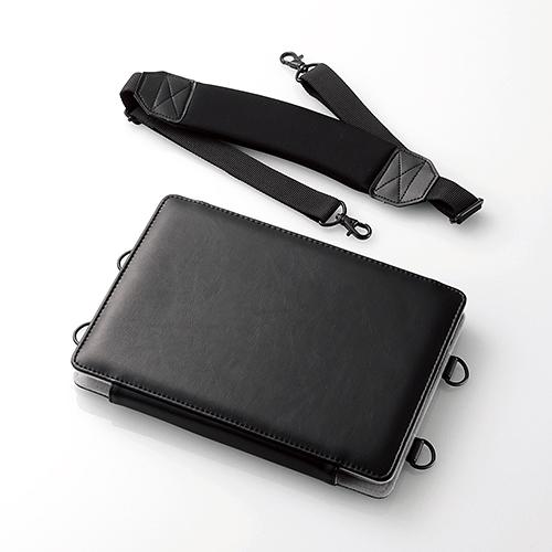 10.5インチiPad Pro 2017年モデル用フラップカバー/ソフトレザー/フリーアングル/画板ケース/ショルダーベルト付/ブラック TB-A17LCSSBK(FMDI009750)