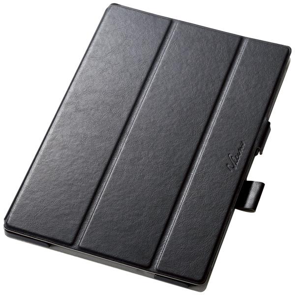 arrows Tab F-04H用薄型フラップカバー/360度回転/ブラック TBD-FA04AWVSBK(FMDI006751)