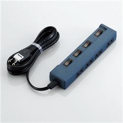 OAタップ/color style/個別スイッチ/4口/2m/ブルー T-C02-2420BU(FMDI002073)