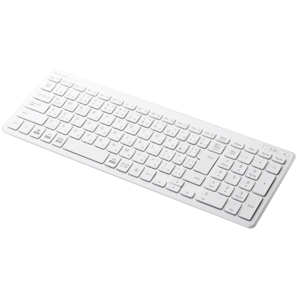 Bluetoothコンパクトキーボード/パンタグラフ式/薄型/マルチOS対応/ホワイト TK-FBP101WH(FMDI008550)