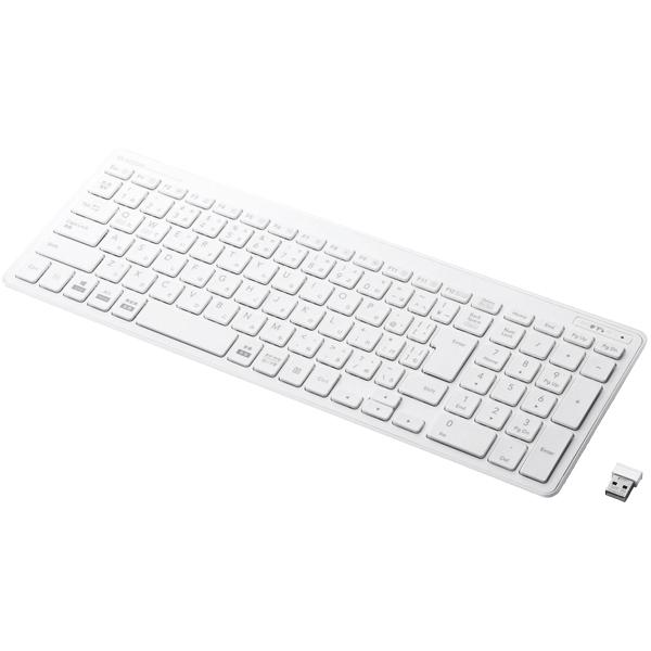 ワイヤレスコンパクトキーボード/パンタグラフ式/薄型/ホワイト TK-FDP099TWH(FMDI008568)