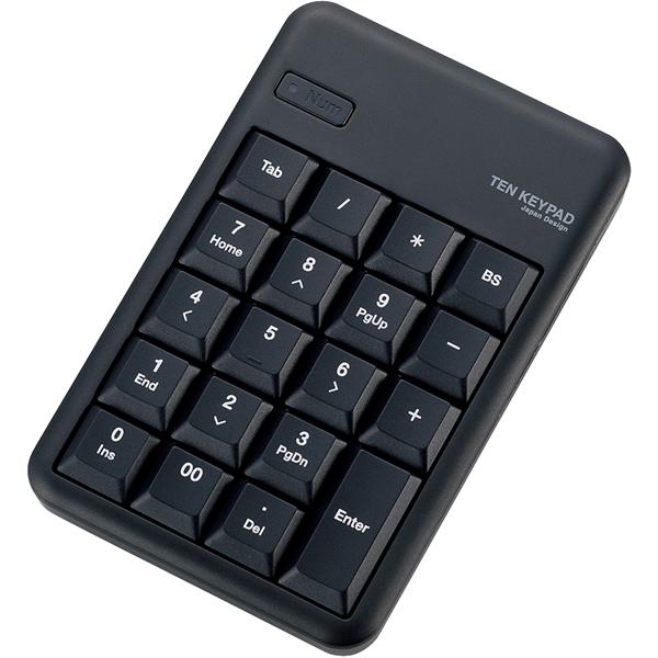 Bluetoothテンキーボード/Mサイズ/メンブレン/高耐久/ブラック TK-TBM016BK(FMDI008529)