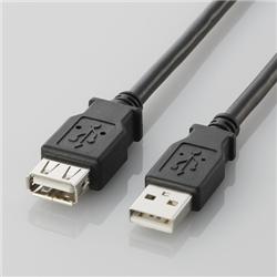 USB2.0延長ケーブル(A-A延長タイプ)「U2C-Eシリーズ」(ブラック/2.0m)(FMDI000700)