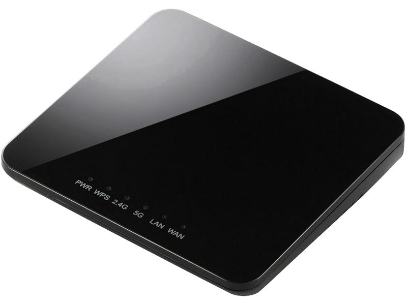 IEEE802.11ac/n/a/g/b対応無線LANルーター親機/コンパクト/433+300Mbps/ブラック WRH-733GBK(FMDI004396)