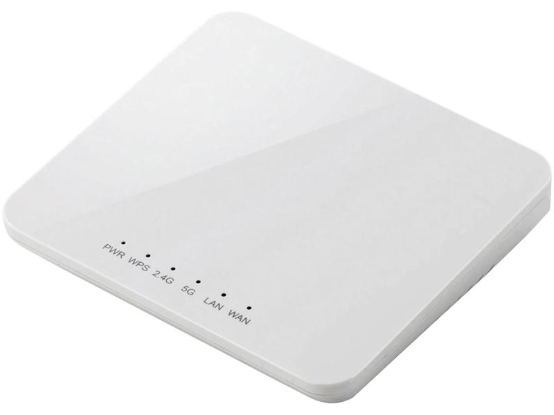 IEEE802.11ac/n/a/g/b対応無線LANルーター親機/コンパクト/433+300Mbps/ホワイト WRH-733GWH(FMDI004397)