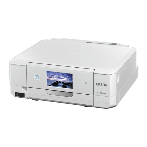 A4インクジェットプリンター/カラリオ/ホワイト EP-808AW(FMDI004323)