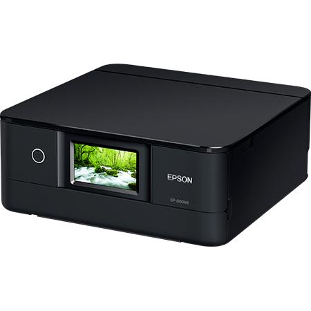 A4インクジェット/カラリオ/多機能モデル/6色染料/有線・無線LAN/Wi-Fi Direct/両面/4.3型ワイドタッチパネル/ブラック EP-880AB(FMDI008272)