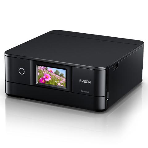 A4インクジェット/カラリオ/多機能/6色/有線・無線/Wi-Fi Direct/両面/4.3型ワイドタッチパネル/ブラック EP-881AB(FMDI012008)