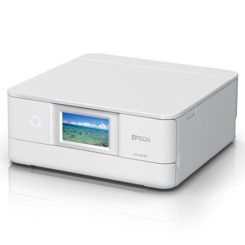 A4インクジェット/カラリオ/多機能/6色/有線・無線/Wi-Fi Direct/両面/4.3型ワイドタッチパネル/ホワイト EP-881AW(FMDI012011)