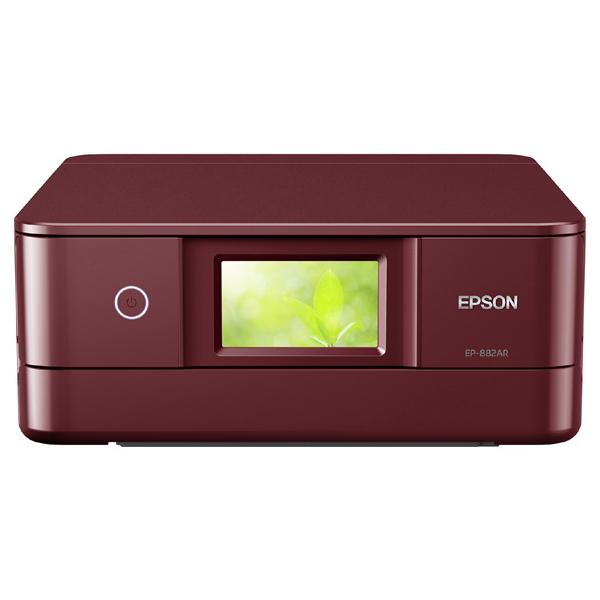 A4カラーインクジェット複合機/Colorio/6色/有線・無線/Wi-Fi Direct/両面/4.3型ワイドタッチパネル/レッド EP-882AR(FMDI014075)
