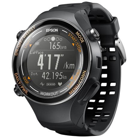 WristableGPS/GPSランニングギア/脈拍・活動量・VOL2Max推定計測機能/バイブ/タップ操作/ジェットブラック SF-850PJ(FMDI006368)