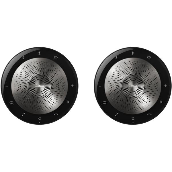 USB・Bluetooth接続・HD音声対応ポータブルスピーカーフォン Microsoft Lync認定 「Jabra Speak 710+ MS」 2台セット(FMDI014726)