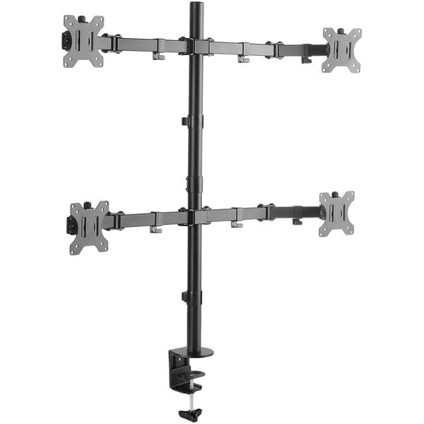 液晶ディスプレイアーム 5軸 クランプ式 4本アーム GH-AMCG03(FMDI009163)