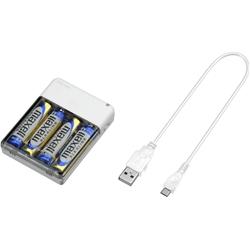 乾電池式 モバイル充電器 単三形4本 ホワイト GH-BTB34A-WH(FMDI005660)