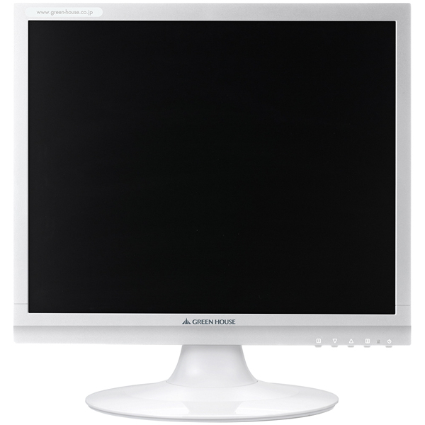 17型カラーLED液晶ディスプレイ VGA/DVI ホワイト 3年保証 GH-LCS17C-WH(FMDI006147)