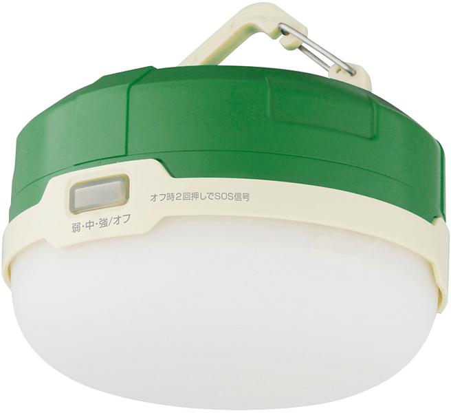 LED防水キャンプライト フック付 グリーン GH-LED1WPA-GR(FMDI006372)