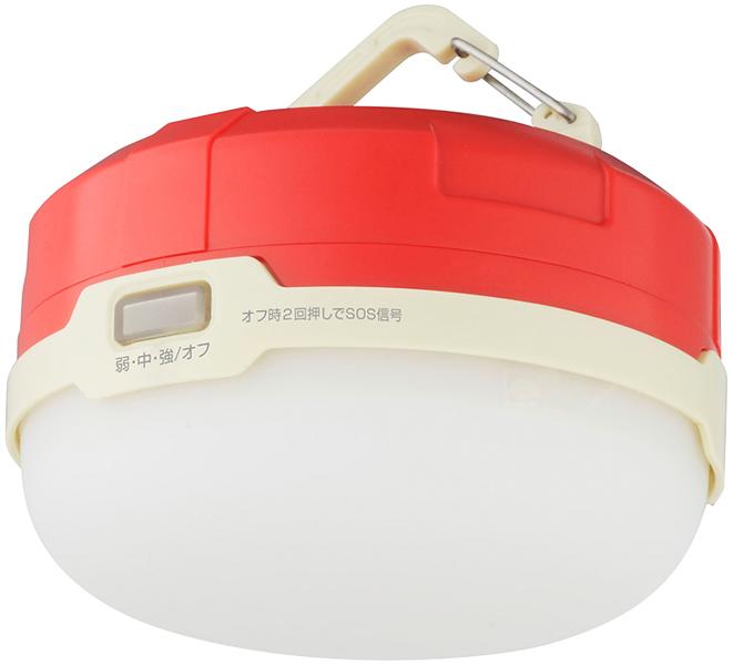 LED防水キャンプライト フック付 レッド GH-LED1WPA-RD(FMDI006373)