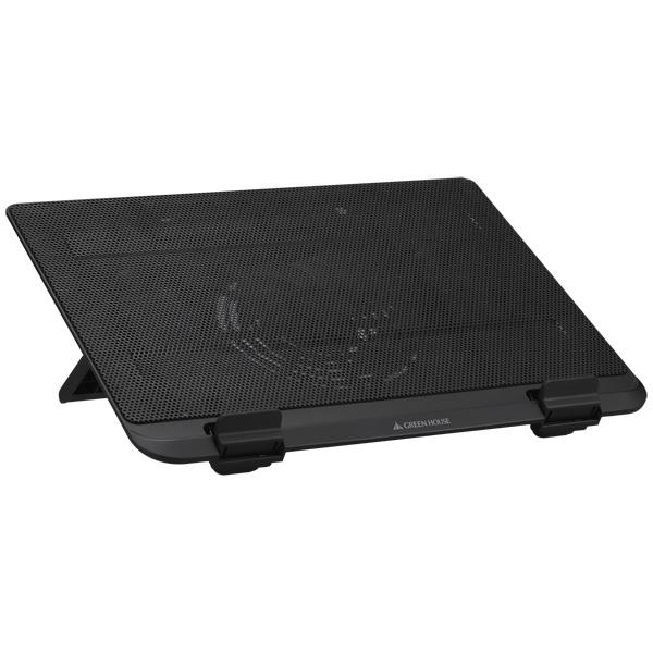 USB接続ノートPCクーラー スチールタイプ1ファン ブラック GH-PCFE1(FMDI010239)